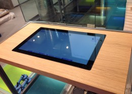 "32"" Multitouch table in a bespoke wooden table"